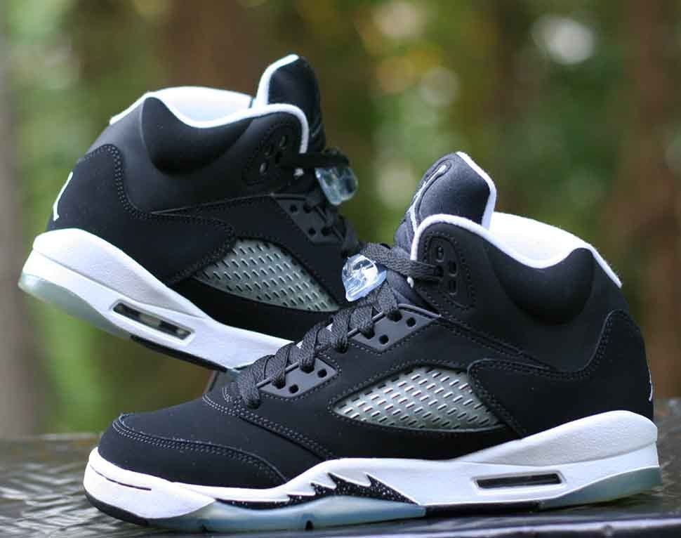 208612a07b31 Nike Air Jordan 5 V Retro GS Oreo Black White Grey 440888-035 Size ...