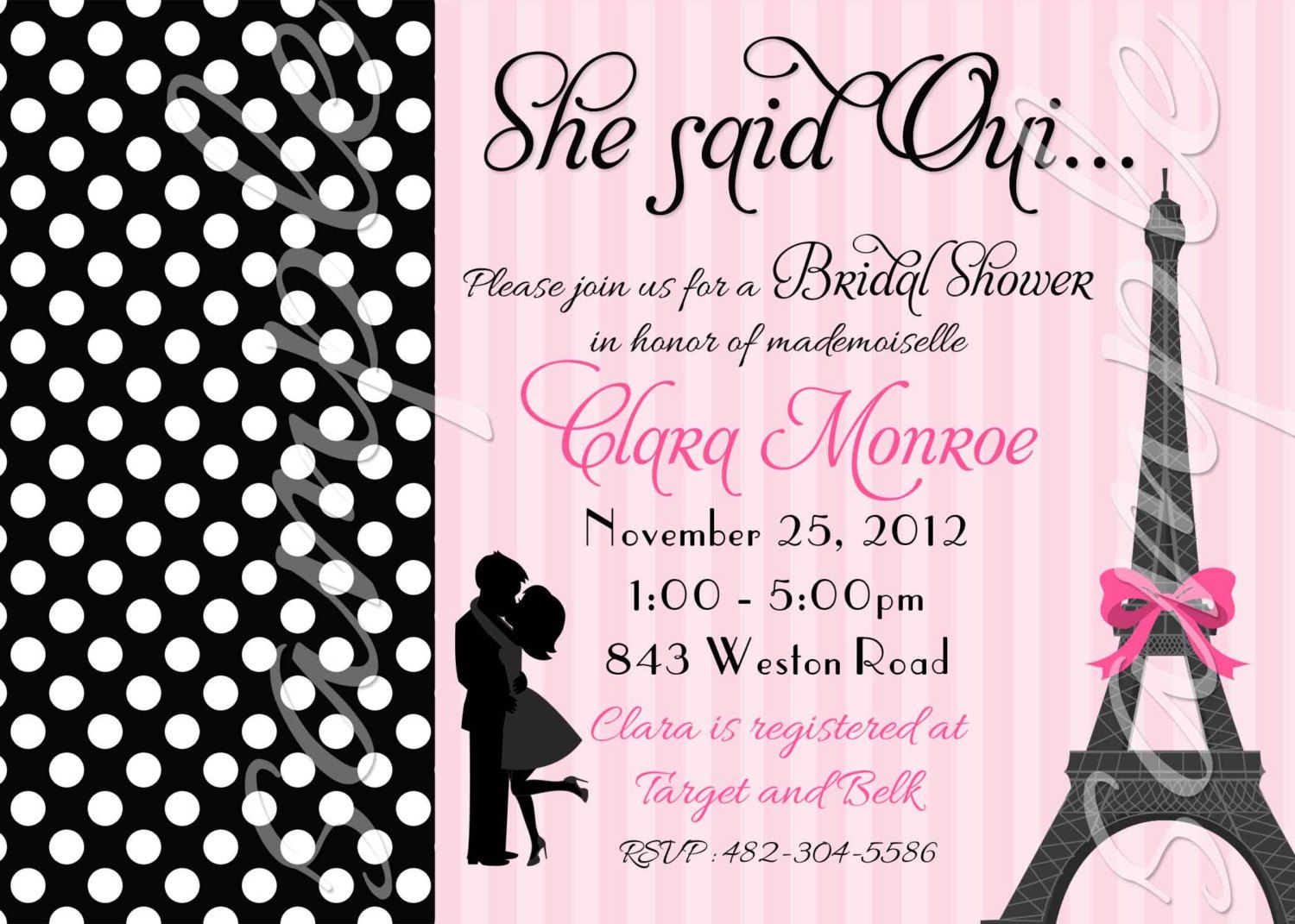 paris couple bridal shower or engagement invitation 3 to choose you print 1150 via etsy