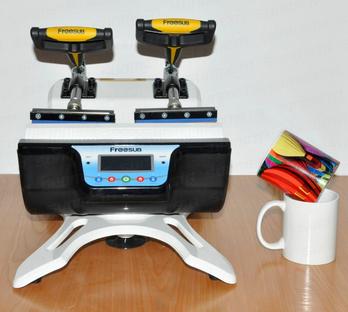 New arrival machine! Mini doublestation mug press