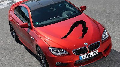Car Hood Vinyl Decal Graphics Stickers Art Mural Sport Woman Yoga Fitness KJ309