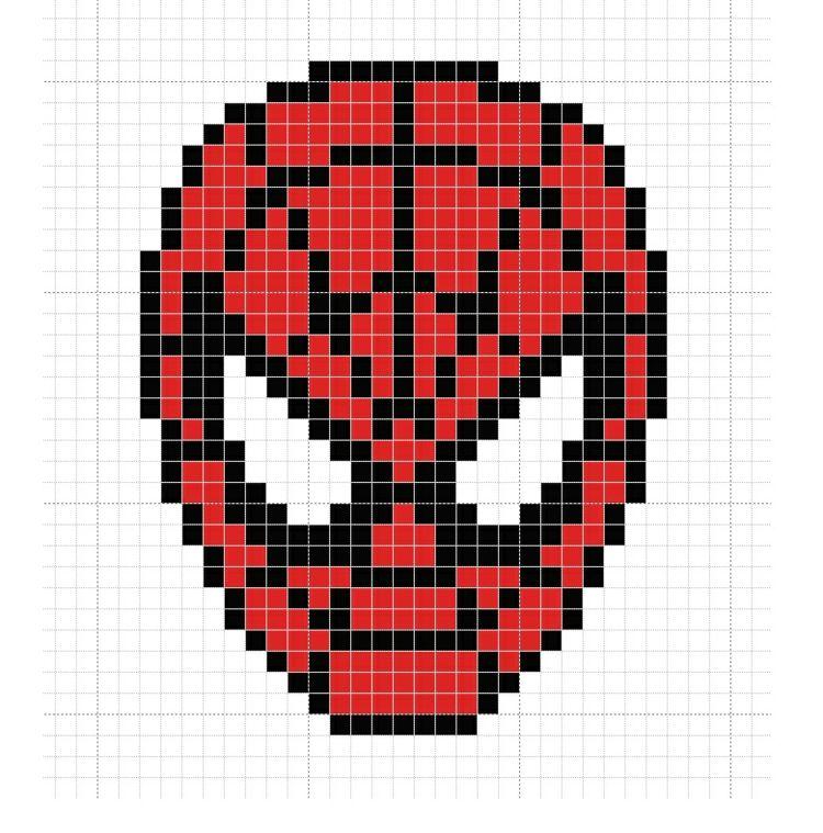 Buegelperlen Vorlagen Kostenlos Spiderman Gesicht Maske Rot Spinnennetz Bugelperlen Vorlagen Bugelperlen Vorlagen Kostenlos Bugelperlenvorlagen