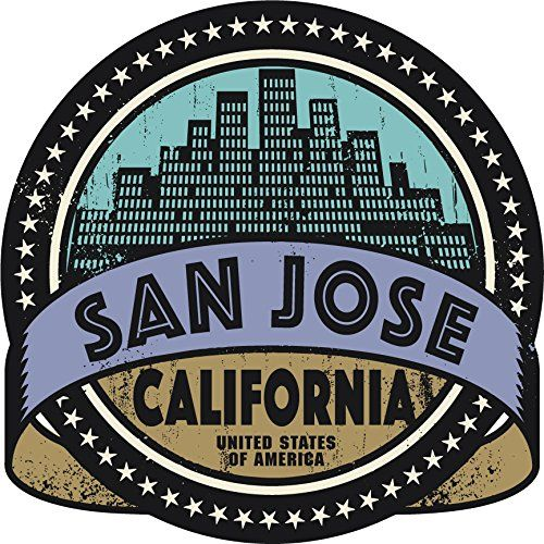 San Jose City California Usa Label Home Decal Vinyl Sticker 12 X 12 Want To Know More Click On The Image This Window Stickers Vinyl Sticker Stickers