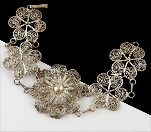 Винтажный браслет, серебро - Винтаж Винтажные украшения Винтажная бижутерия