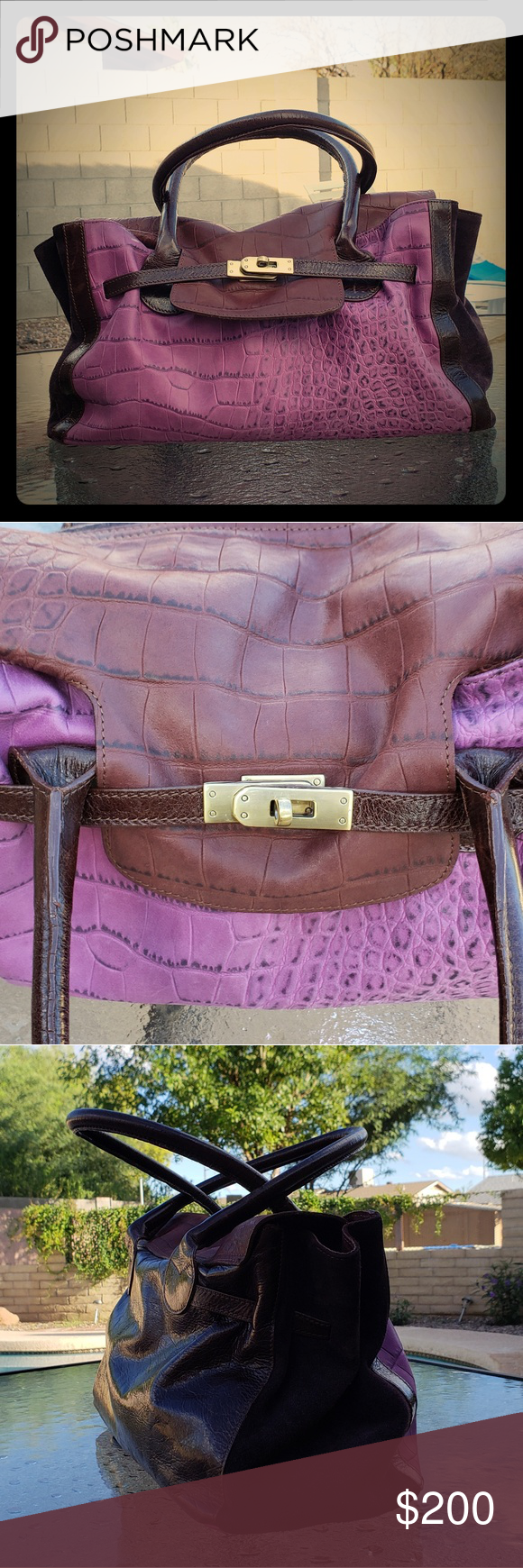 70295f0e6cfb 💜Innue Genuine Leather Made in Italy Handbag💜 Made in Italy ...