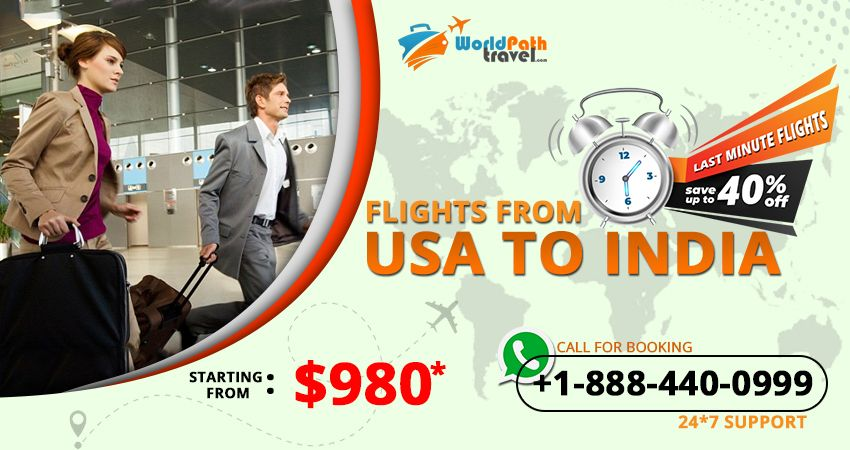 Avail #LastMintueFlights deals with #Worldpathtravel. Grab #cheapflightdeals to India at a discounted price. Hurry! Book now & Save more.   For more information: Contact us at: +1-888-440-0999  #bestdealstoindia #flightstoindia #flightticketstoindia #cheapairfare #usatoindiaflightdeals #usatoindiaflights #CheapFlightBooking