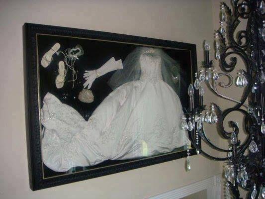 Pin By Stephanie Marie On 12 13 14 I Do Wedding Dress Shadow Box Wedding Shadow Box Wedding Frames