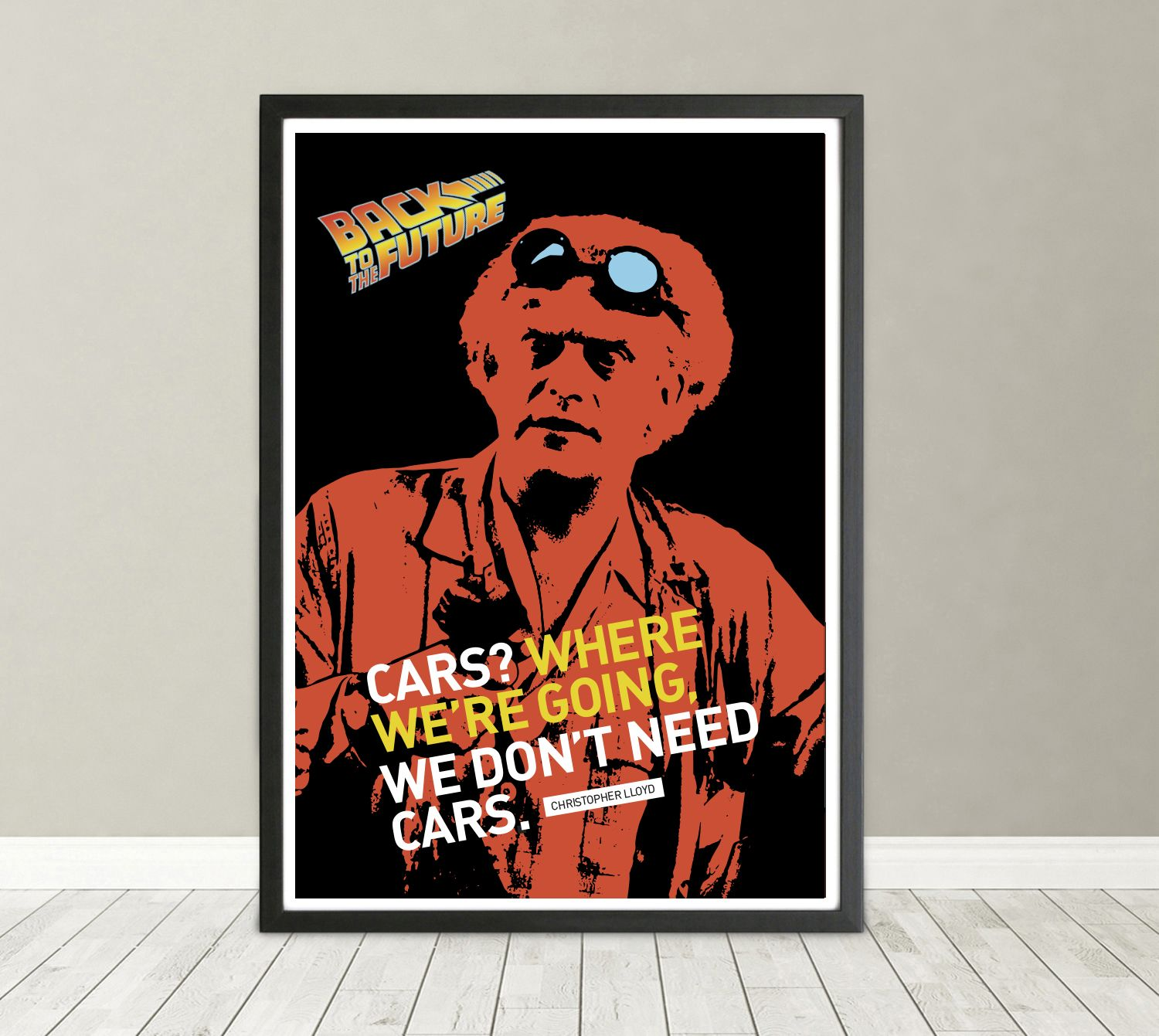 Back To The Future Marty McFly Movie Poster Print T450 A4 A3 A2 A1 A0 