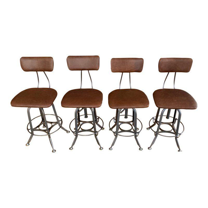 Awesome Restoration Hardware 1940S Vintage Toledo Leather Bar Cjindustries Chair Design For Home Cjindustriesco