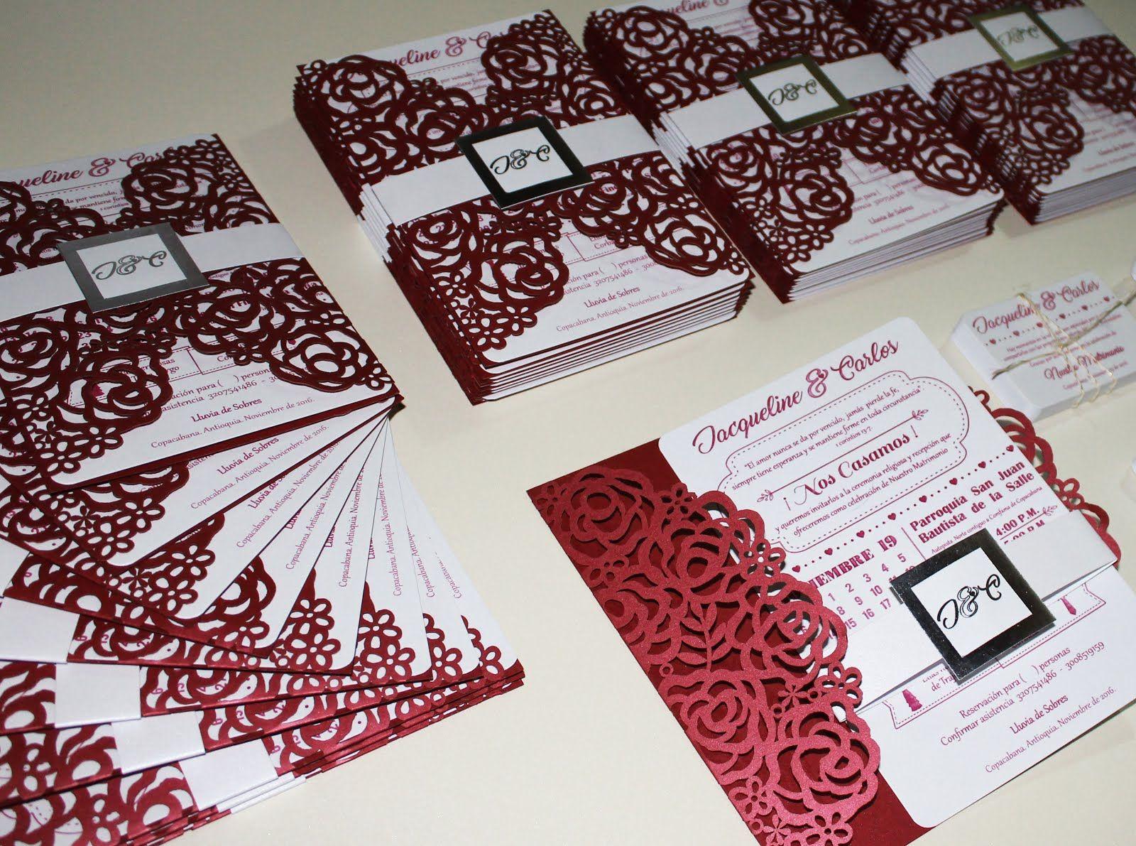 Invitación Matrimonio Rosas Rojas