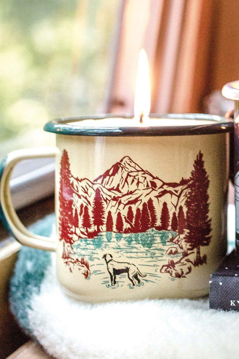 Off Leash Enamel Mug Candle Ceramic mugs, Candles