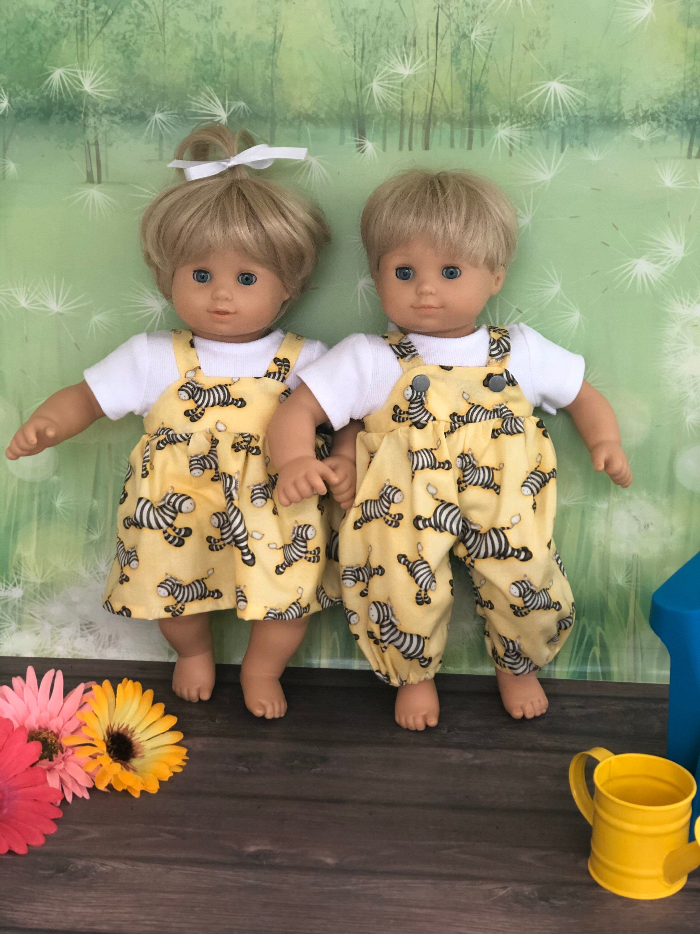 15 Twin Doll Clothes Boy Girl Doll Outfits Etsy In 2020 Boy Outfits Twin Dolls Girl Dolls
