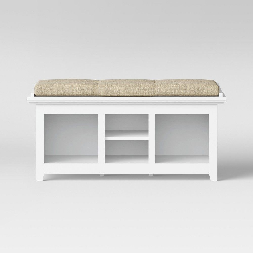 Swell Carson Entryway Bench White Threshold In 2019 Products Andrewgaddart Wooden Chair Designs For Living Room Andrewgaddartcom