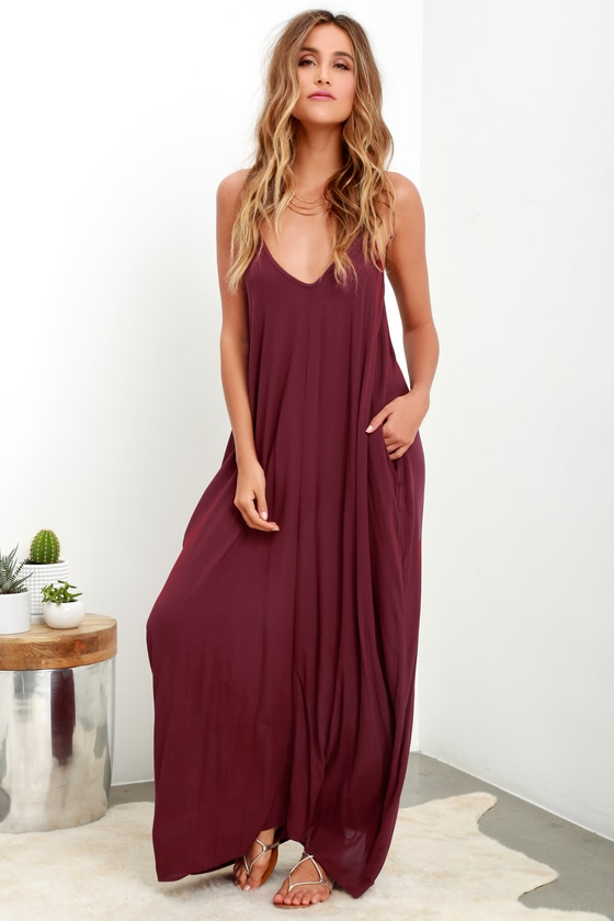 Yours Tule Burgundy Maxi Dress