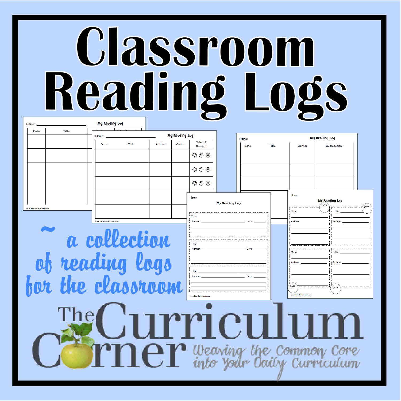 Classroom Reading Logs Reading logs, Reading log