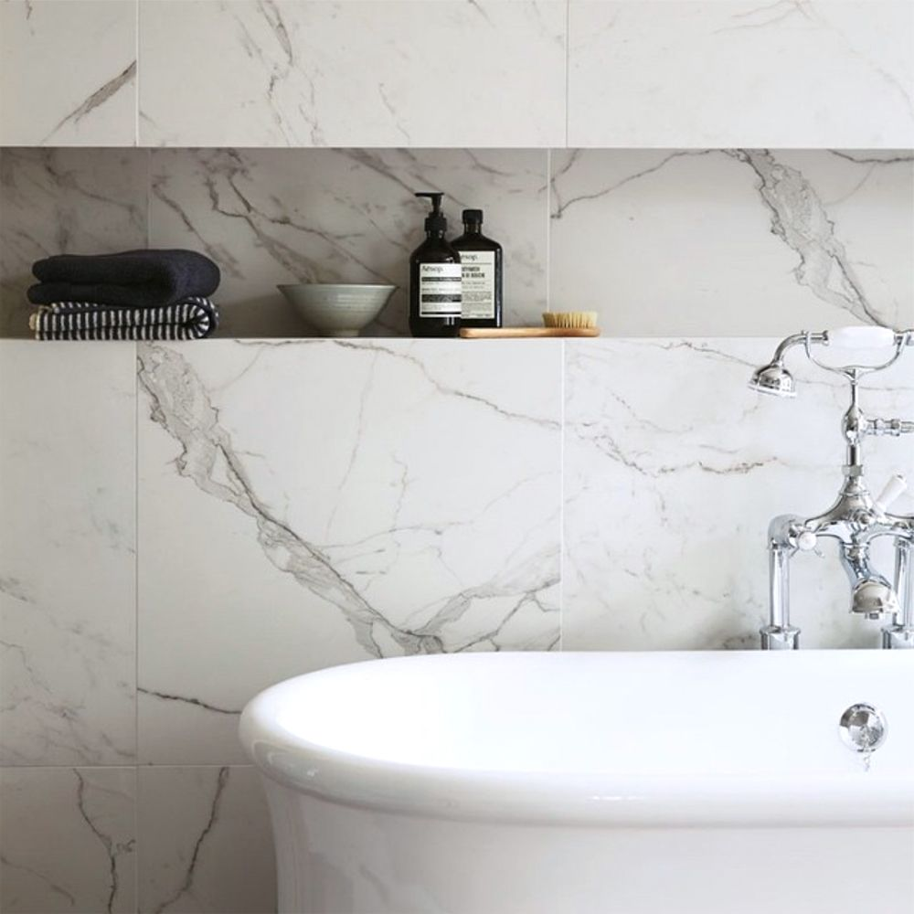 South Beach Townsend Tiles from Fired Earth || The Best White Marble ...
