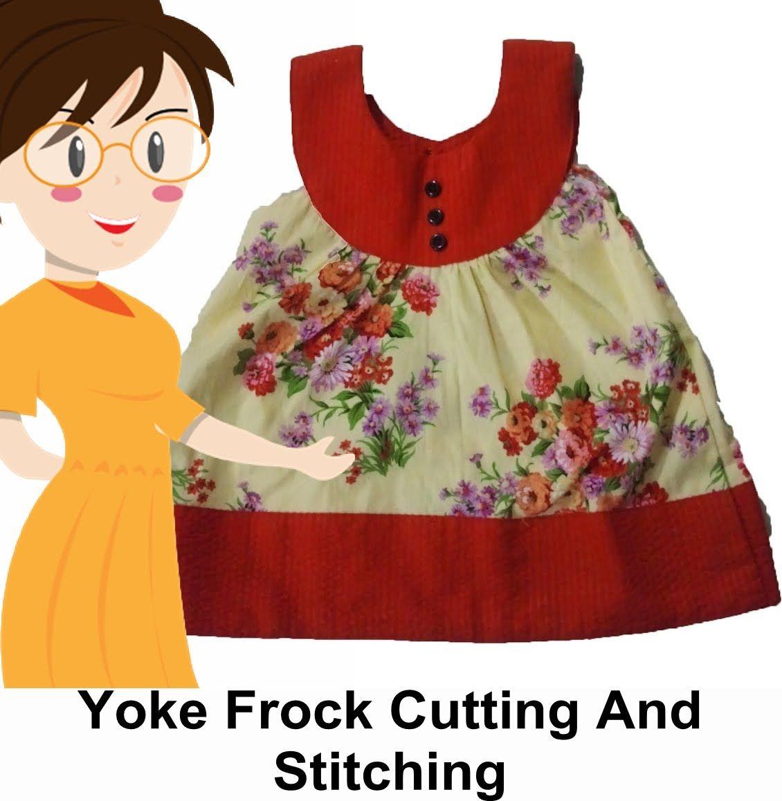 448b3023135c Yoke Frock Cutting And Stitching - Tailoring With Usha - YouTube ...