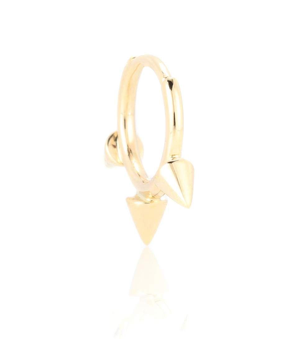 Maria Tash Triple Long Spike Eternity Ring 14kt gold and diamond earring NCdPo