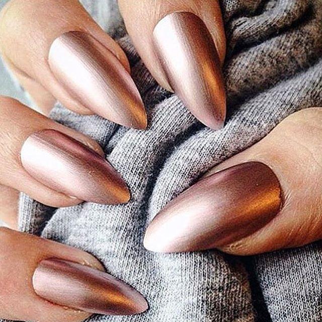 Rose gold ✓ #Slayedmagazine | #Manicure | #Beauty | #Lovethislook ...