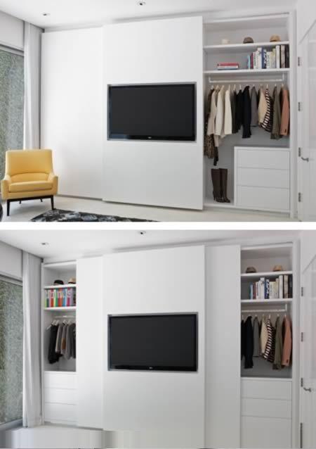 guarda roupa com TV | quarto casal | Pinterest | Schlafzimmer ...