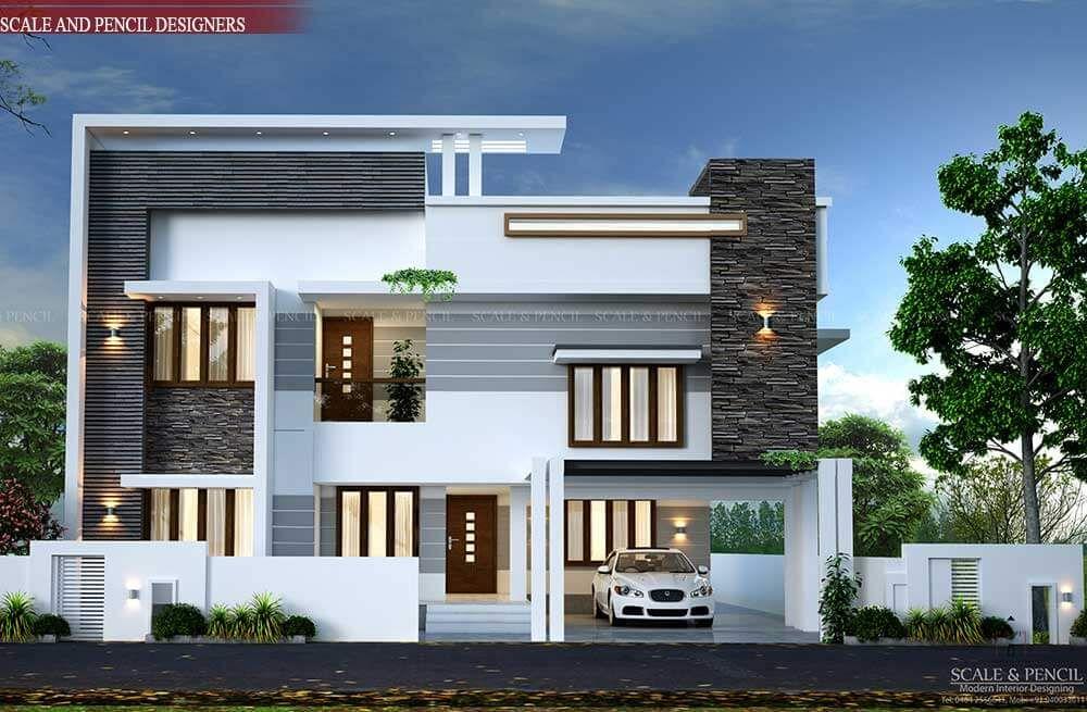Fabulous Modern 3d Home Design Small House Elevation Design House Front Design New Model House