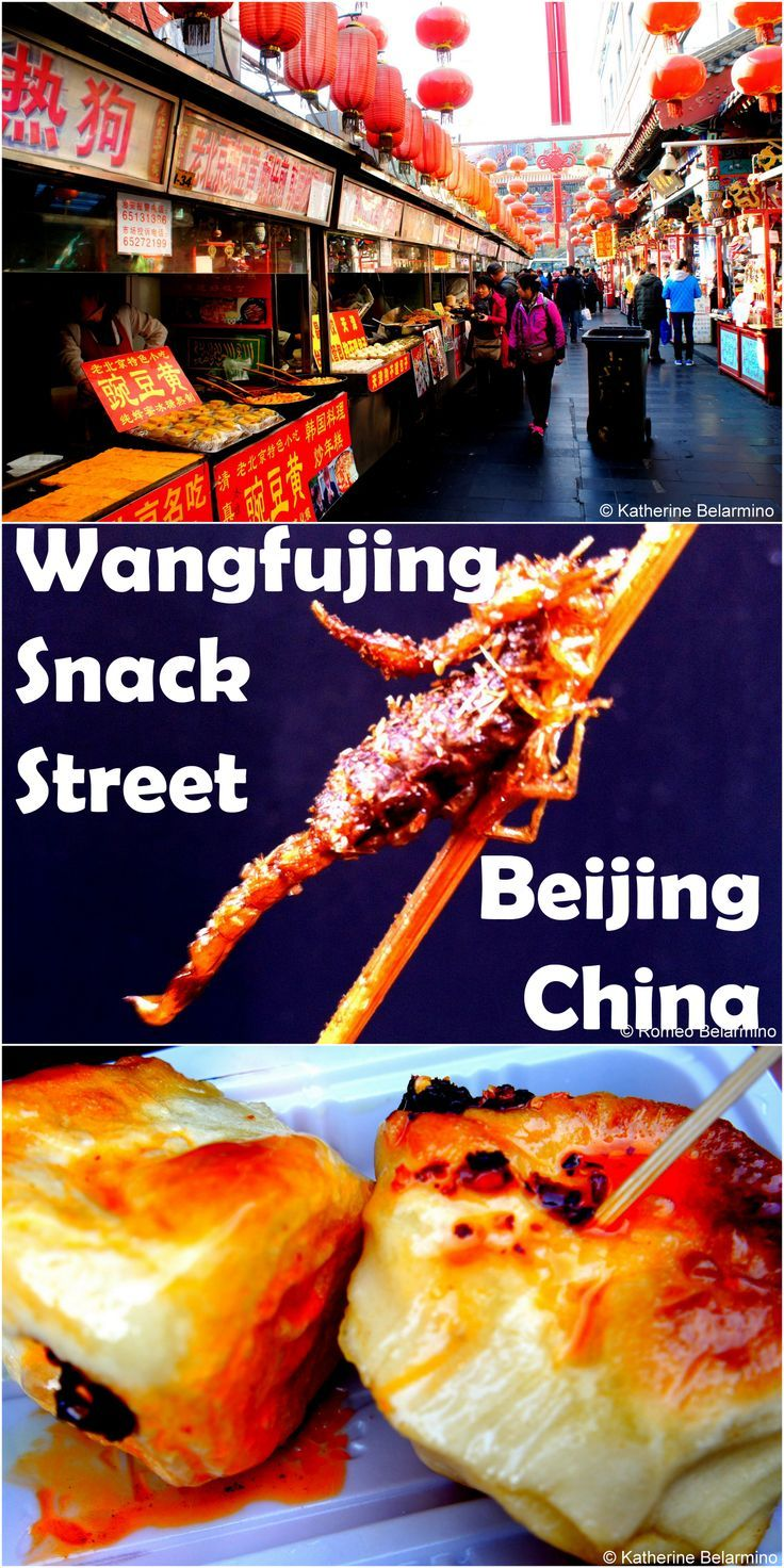 Beijing street food at wangfujing snack street or the day