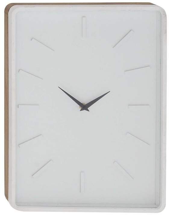 Turn On The Brights Fairview Modern Rectangular Wall Clock White Wall Clocks Clock Wall Clock