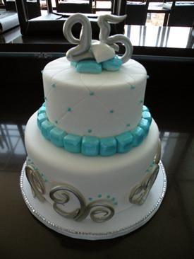 BLUE BIRTHDAY CAKES FOR WOMEN Custom Birthday Cake Denver Silver
