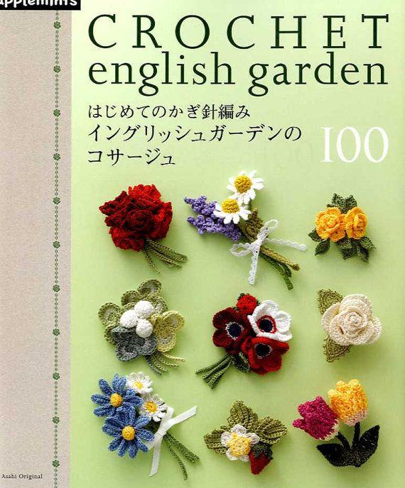 CROCHET English Garden CORSAGE 100 - Japanese Craft Book MM   Häkeln ...