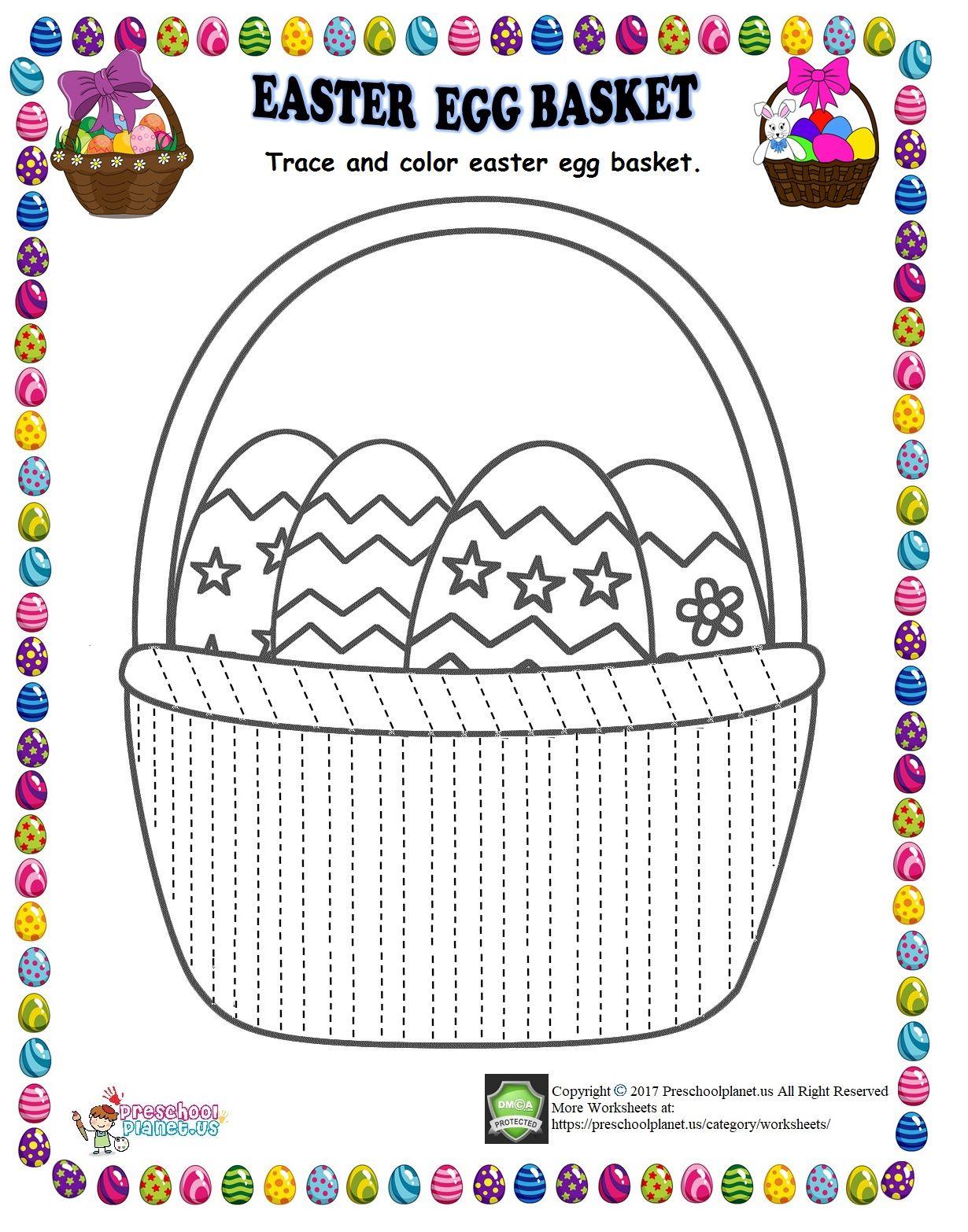 Easter Egg Basket Trace Line Worksheet Easter Egg Basket Egg Basket Easter Worksheets [ 1566 x 1230 Pixel ]