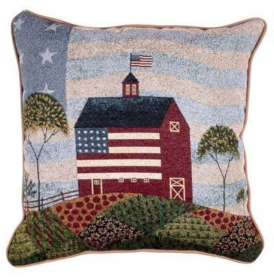 American Farm USA Flag Country Decorative Tapestry Pillow