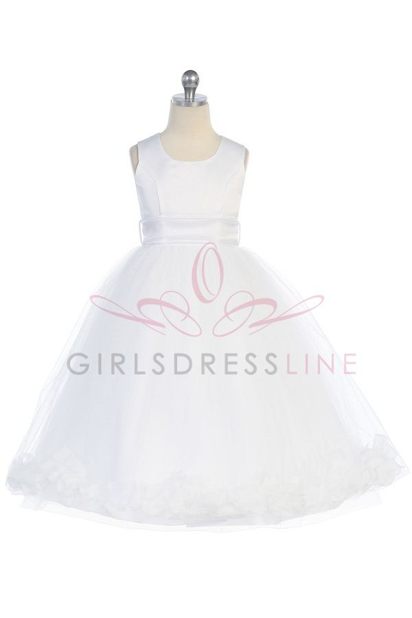 f3c7773c6bc flower girl dress with petals   Sash G2570W www.GirlsDressLine.Com the  turquoise and lime green are pretty