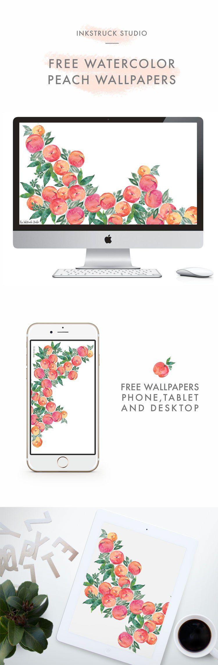 FREE WATERCOLOR PEACH WALLPAPERS Free ipad wallpaper
