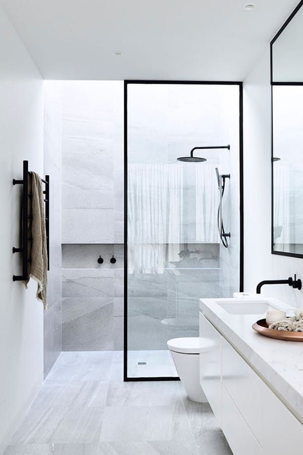 13 Ways To Use Matte Black Hardware In Every Room Small Bathroom Bathroom Interior Modern