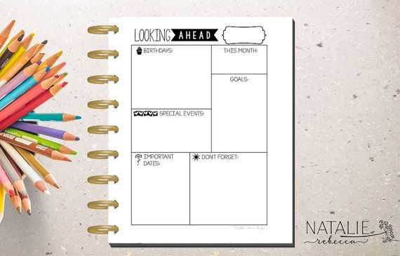 Happy Planner Monthly Dashboard Happy by ...