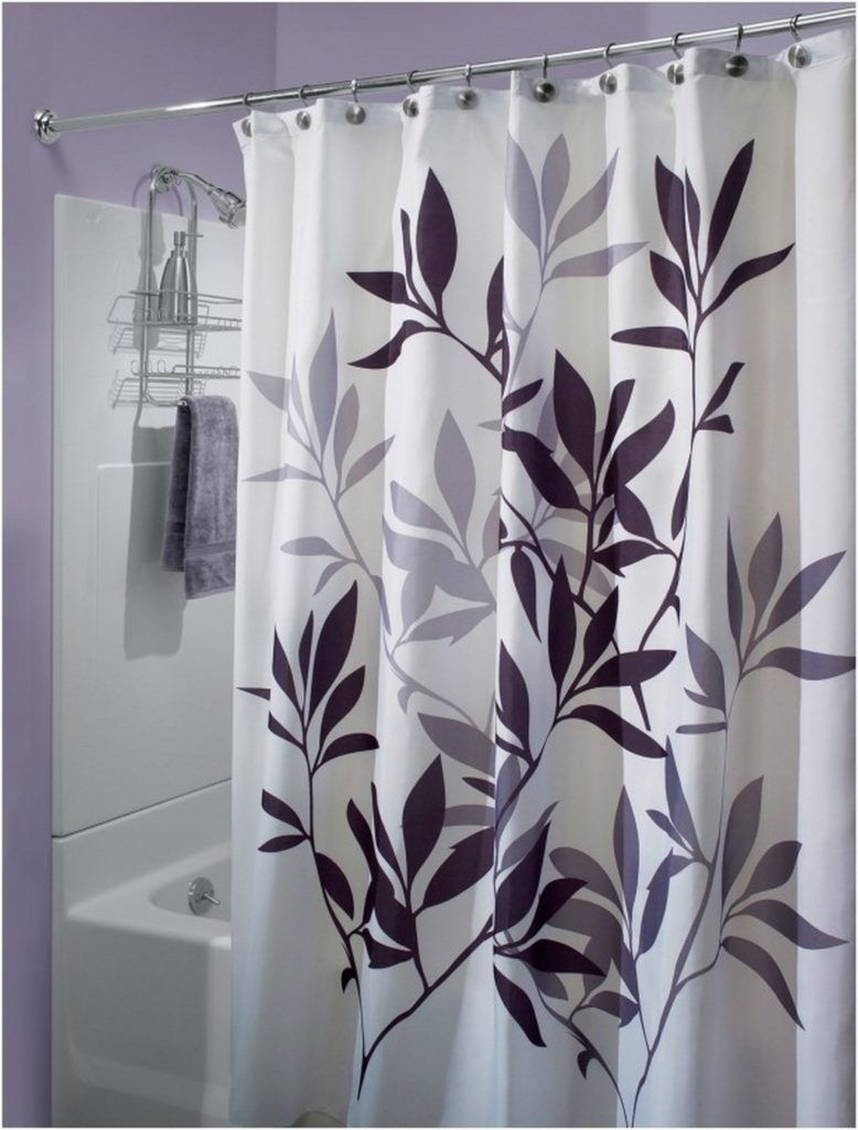 Purple And Gray Shower Curtains Purple Shower Curtain Gray