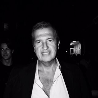 Mr Mario Testino photo by Filep Motwary