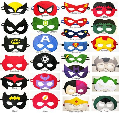 Felt Superhero Masks Party Pack For Kids  You Choose Styles