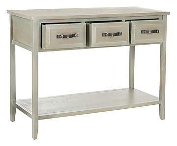 Consolle 3 cassetti in legno Christina grigio - 106x38x76 cm