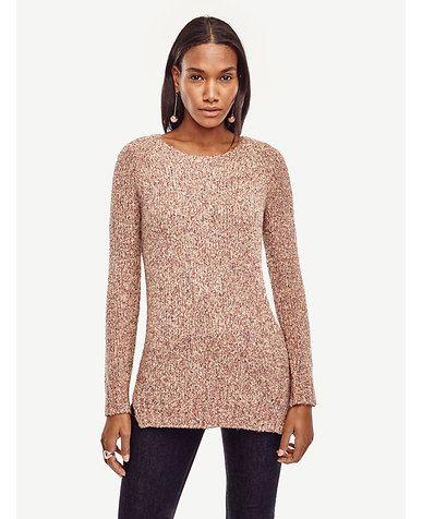 Image of Marled Crew Neck Tunic Sweater | Fashion | Pinterest ...