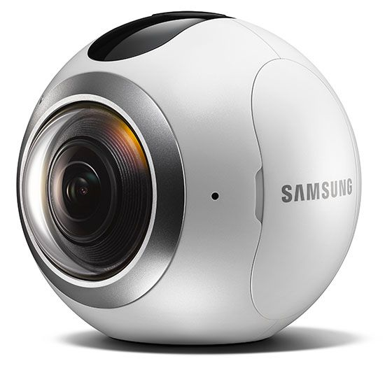 samsung gear 360 is a ball shaped camera for 360 photos. Black Bedroom Furniture Sets. Home Design Ideas