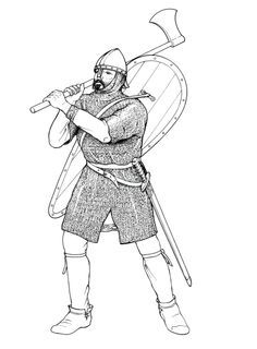 Anglo Saxon professional soldier at the time of the