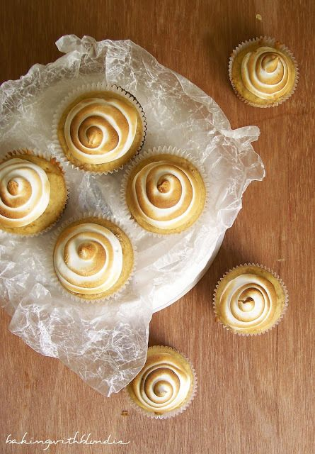 Sweet Potato Cupcakes with Toasted Marshmallow Frosting by Baking with Blondie