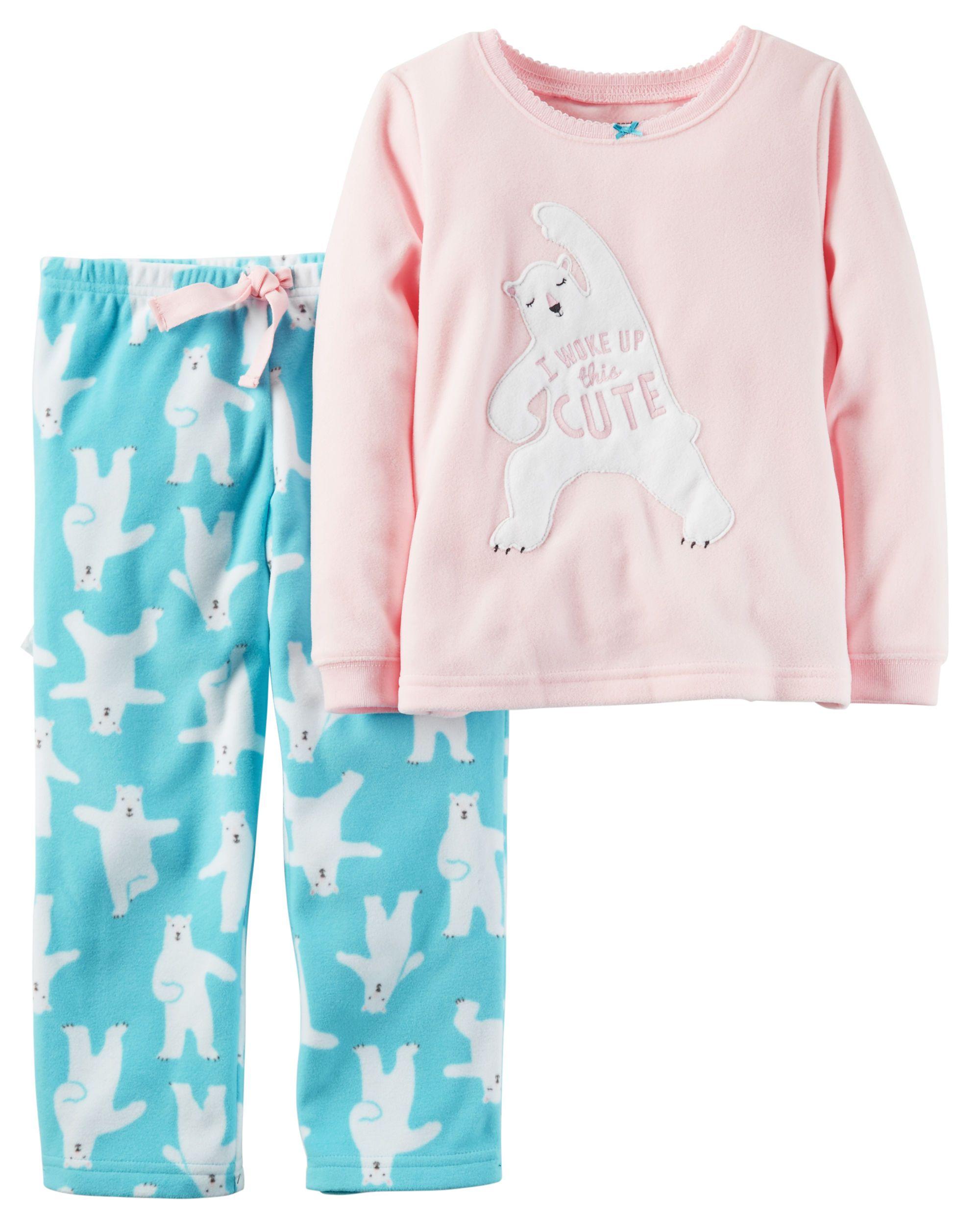 1438c2dff Baby Girl 2-Piece Fleece PJs