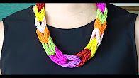 Collar nuedos de colores. Beads