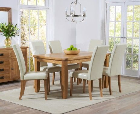 Yateley 140Cm Oak Dining Table With Albany Chairs  Dining For 6 Amusing Oak Dining Room Furniture Design Decoration