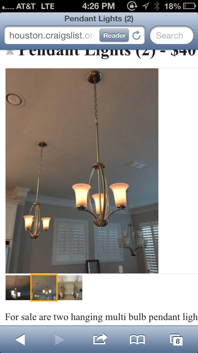 Craigslist 2 Pendant Lighting Ceiling Lights Home Decor