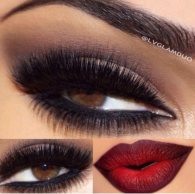 Gothic Makeup Black Smokey Eye Blood Red Lips Day Makeup
