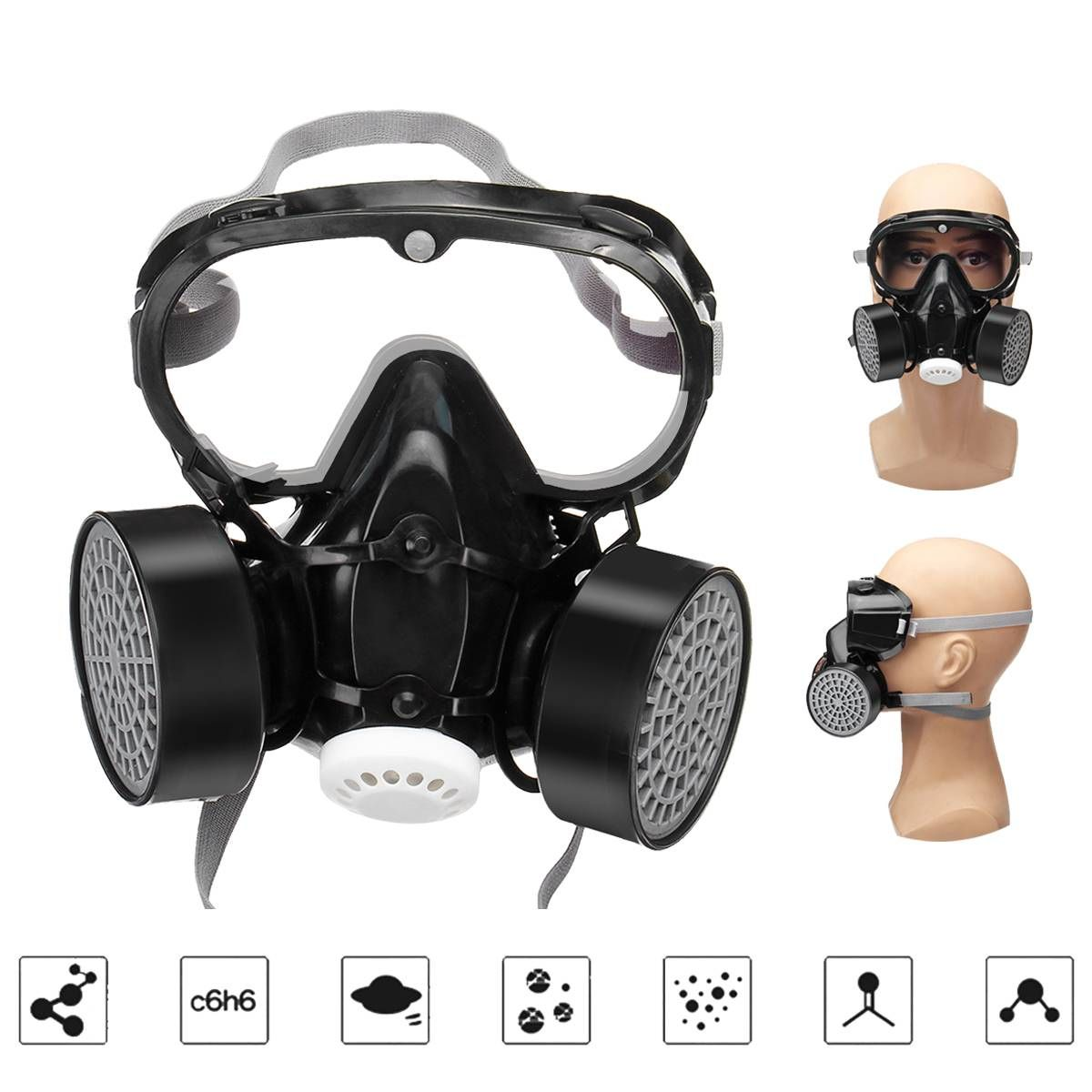 Gas Mask Full Face Work Protective Anti Fog Dust Mask Full Piece