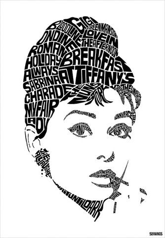 Guitar Girl Silhouete Wallpaper Iphone Audrey Hepburn Print Sean Williams Design