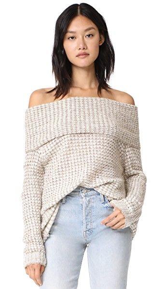 Tegan Off Shoulder Tunic Sweater | Tunic sweater, Bb and Tunics